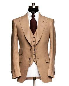 AL Handmade Linen Suit. Summer Is Still Here. We Still Can Make Summer Classics…