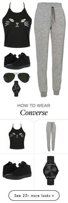 """Untitled #2831"" by twerkinonmaz on Polyvore featuring Icebreaker, Converse, Ray-Ban and Michael Kors"
