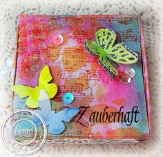 Mixed Media Box by Susanne Rose start to finish tutorial for Noor! Design #mixedmedia #video #tutorial #noordesign #noordesignchallenge #box