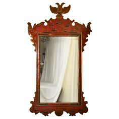 Chinoiserie Mirror | From a unique collection of antique and modern wall mirrors at http://www.1stdibs.com/furniture/mirrors/wall-mirrors/