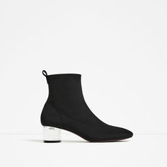 Image 2 of ANKLE BOOTS WITH METHACRYLATE HEEL from Zara