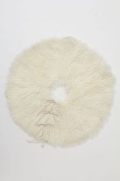 Inspiration. What to do with all that fun fur yarn. Snowy Shag Tree Skirt - Anthropologie.com