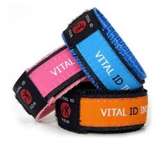 Child Safety Identification Wristbands - I want these!!