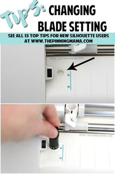Tip 5: How to change the blade depth on your Silhouette CAMEO blade. Read this tip and all 13 MUST KNOW Tips for New Silhouette Users here. This is an AMAZING beginner resource!