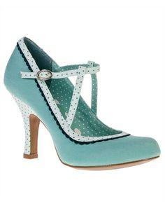 Ruby Shoo Womens Jessica Polka Dot Shoes Mint
