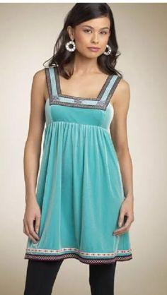 Free People Scandinavian Snowflake dress - blue size m