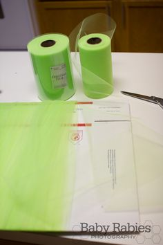 Easiest way to measure and cut tulle for the tulle wreath (I made one yesterday.)