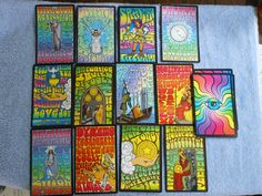 The Rock n Roll Tarot Deck This groovy deck is designed to unlock your psychic potential. Moon Astrology, Divination Cards, Rune Stones, Tarot Card Meanings, Oracle Cards, Concert Posters, Tarot Decks, Deck Of Cards, The Rock