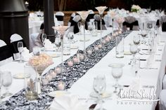#wedding reception decorations #centerpieces #tablescapes #reception details #Michigan wedding #Mike Staff Productions #wedding details #wedding photography http://www.mikestaff.com/services/photography #candles #short centerpieces