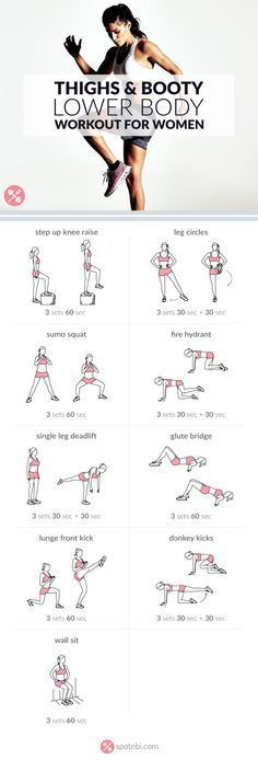 Sculpt your glutes, hips, hamstrings, quads and calves with this lower body workout. A routine designed to give you slim thighs, a rounder booty and legs for days! # workout plans for weight loss Fitness Workouts, Sport Fitness, Body Fitness, At Home Workouts, Fitness Motivation, Health Fitness, Workout Routines, Fitness Shirts, Fitness Goals