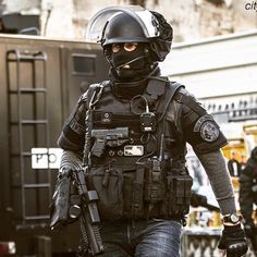 French BRI Operator. BRI is spécial intervention unit of French parisian police.