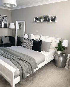 Bedroom decor - 47 Mythical Answers To Master Bedroom Layout Furniture Dressers Disclosed 39 Room Ideas Bedroom, Home Decor Bedroom, Teen Bedroom Colors, Bedroom Boys, Cozy Bedroom, Bedroom Beach, Bedroom Dressers, White Bedroom Furniture Ikea, Diy Dressers