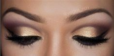 wedding eyes make up grey and orange | Try out a light shimmer smoky eye makeup like this one. This is ...
