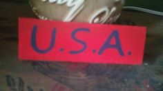 U.S.A. Hand Painted Wood Shelf Sitter by SignsandDesignsbyAMA on Etsy