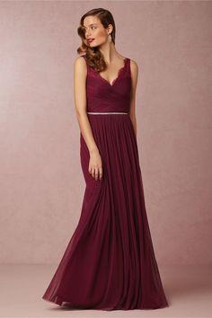 Beautiful burgundy bridesmaid dress 'Fleur' BHLDN Bridesmaid Dresses