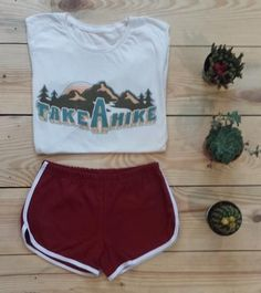 ** Take a Hike 70s Retro Tee...