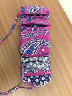 Vera Bradley jewelry case roll up
