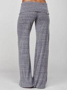 Slum yoga pant for ladies | Fashion World... I need these for around the house!