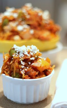 {Spaghetti Squash Marinara with Olives and Peppers}