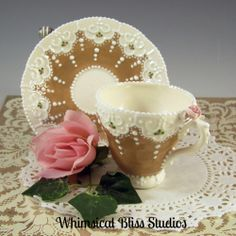 Whimsical Bliss Studios - Ginger Lace Cup & Saucer
