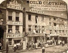 Tiendas en Nueva York, 1865.