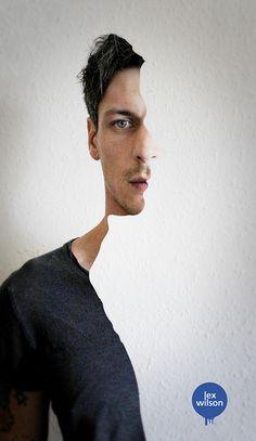 Creative Self-portrait #11 - Split profile by Lex Wilson, via Flickr