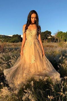 Off Shoulder Tulle Long Prom Dress with Applique and Beading,Fashion School Dance Dress,Winter Formal Dress - Renee Marino Prom Dresses Winter Prom Dresses, Evening Dresses, Dress Winter, School Dance Dresses, School Dances, Dress For You, I Dress, Prom Dresses Online, School Fashion