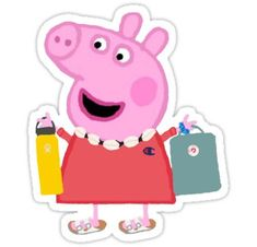 'Peppa Pig Vsco Girl' Sticker by maddiefrick Peppaaaa what are you doing on vsco Peppa Pig Stickers, Bubble Stickers, Meme Stickers, Phone Stickers, Iphone Wallpaper Vsco, Aesthetic Iphone Wallpaper, Peppa Pig Wallpaper, Peppa Pig Memes, Aesthetic Stickers