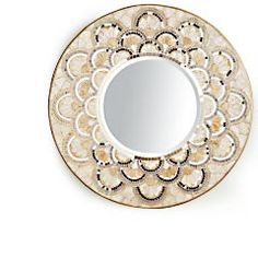 This is made with capiz shell to accent to mosaic mirrors and glass. I love it sooo much!
