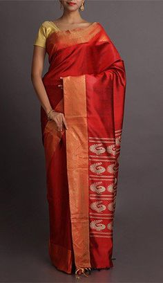 Hetal Rustic Romance Peacock Pallu Ghicha Silk Saree