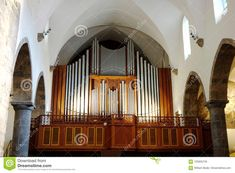 Church Organ In The Chapel At The Abbey Of St. Maurice Stock Image - Image of side, chapel: 105935745