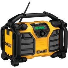 This Dewalt 12-Volt/20-Volt Worksite Charger Radio has a 2A charger for 12V max and 20V max Dewalt battery packs that allows for quick and convenient battery charging. The charger radio runs off 12V m