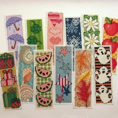 A Year of Bookmarks Cross Stitch Patterns by StitchNotions on Etsy, $7.00