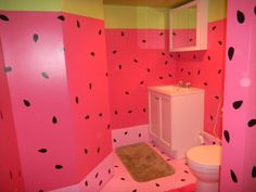 My Watermelon Bathroom    makes me want to smile :)