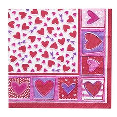 Sweet Hearts Valentines Day Beverage Napkins 16ct ** Click on the image for additional details.