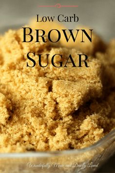 This Low Carb Brown Sugar Replacement can be used in your Trim and Healthy Baking! It is pet friendly and takes the muss and fuss out of on plan baking. Sugar Detox Recipes, Ketogenic Recipes, Low Carb Recipes, Diabetic Recipes, Diabetic Desserts, Bariatric Recipes, Healthy Recipes, Healthy Eats, Splenda Recipes
