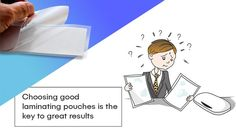 Choosing good laminating pouches is the key to great results Pouches, Workplace, Cleaning Wipes, Stationary, Playing Cards, Key, Unique Key, Playing Card Games, Game Cards