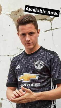 Ander Herrera with the new kit of the away shirt of 2017/18 Manchester United season