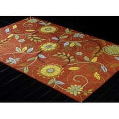 """Darby Home Co Ridley Hand-Tufted Rust Area Rug Rug Size: Runner 2'6"""" x 8'"""