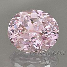 unheated light pink sapphire oval