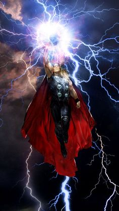 """""""Waves are but water. Wind but air. And though lightning be fire."""" Thor by John Gallagher (Marvel comics) Comic Book Characters, Comic Book Heroes, Marvel Characters, Comic Character, Comic Books Art, Comic Art, Odin Marvel, Marvel Vs, Marvel Heroes"""