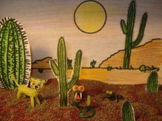 Desert Habitat habitat lesson using wikki stix - cute idea.