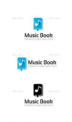 Music Book Logo  — EPS Template