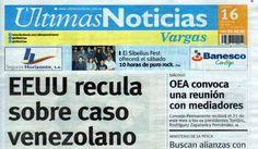 Últimas Noticias Vargas  jueves 16 de junio de  2016