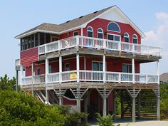Ocean Vista, 5 bedroom Semi-Ocean Front home in Waves, OBX, NC. 1335. No pool table