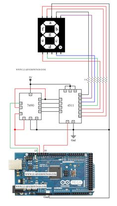 controlling seven segment display using 7490 and 4511 driver ic, 4511 tutorial for seven segment display, use of 7490, 74HC90 tutorial for seven segment display, 7490 tutorial