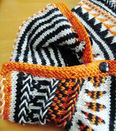 Oranje fair isle cardigan : Knitty Winter 2011 Crochet Quilt, Knit Crochet, Free Knitting, Knitting Patterns, Icelandic Sweaters, Last Stitch, Knitting Magazine, Orange Pattern, Stockinette