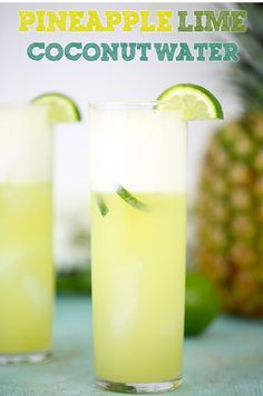Need a break? Try this Pineapple & Lime Coconut Water Recipe #OddMomOut #spon
