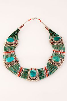 Turquoise Multi Bead Collar   TreeofLife.com.au  So Beautiful!
