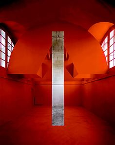PHOTO BY GEORGES ROUSSE - Georges Rousse's installation at the Musée Reattu in Arles, France